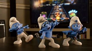 The smurfs dancing