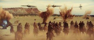 Cowboys and aliens 2 battle