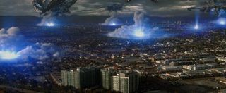 Skyline alien ships