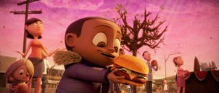 Cloudy with a chance of meatballs hamburger