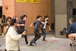 Jonas brothers filming