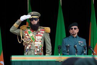 The dictator sacha baron cohen salute