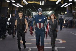 The avengers group captain america black widow