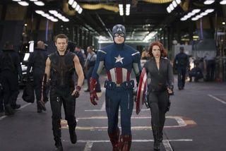 The avengers group captain america black widow