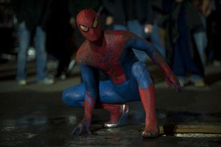 Amazing Spider Man Andrew Garfield in suit