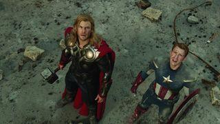 The avengers chris evans chris hemsworth