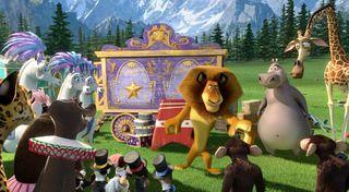 Madagascar 3 circus cart