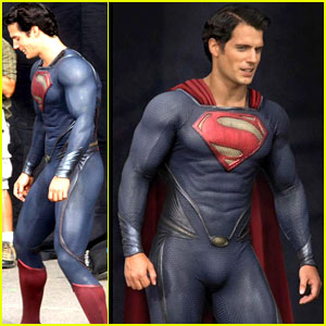 Henry-cavill-man-of-steel-set-photos