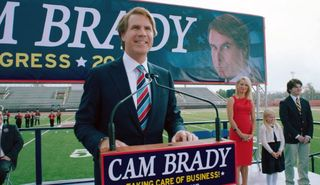 Cam brady the campaign podium